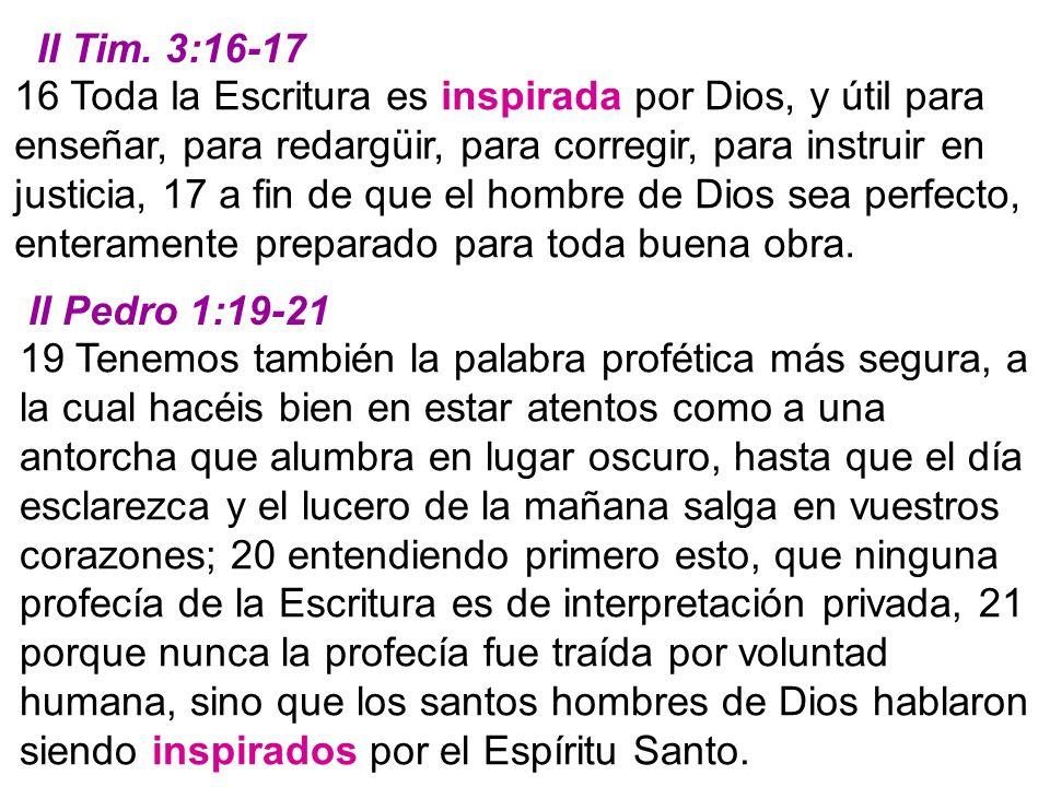 II Tim. 3:16-17