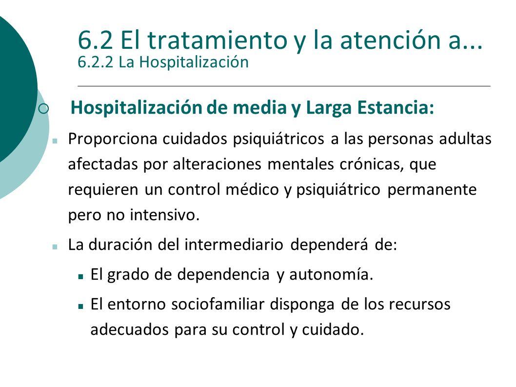 6.2 El tratamiento y la atención a... 6.2.2 La Hospitalización