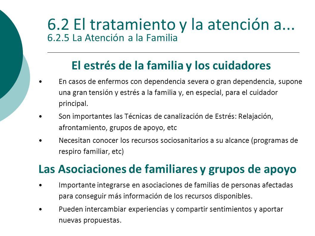 6.2 El tratamiento y la atención a... 6.2.5 La Atención a la Familia