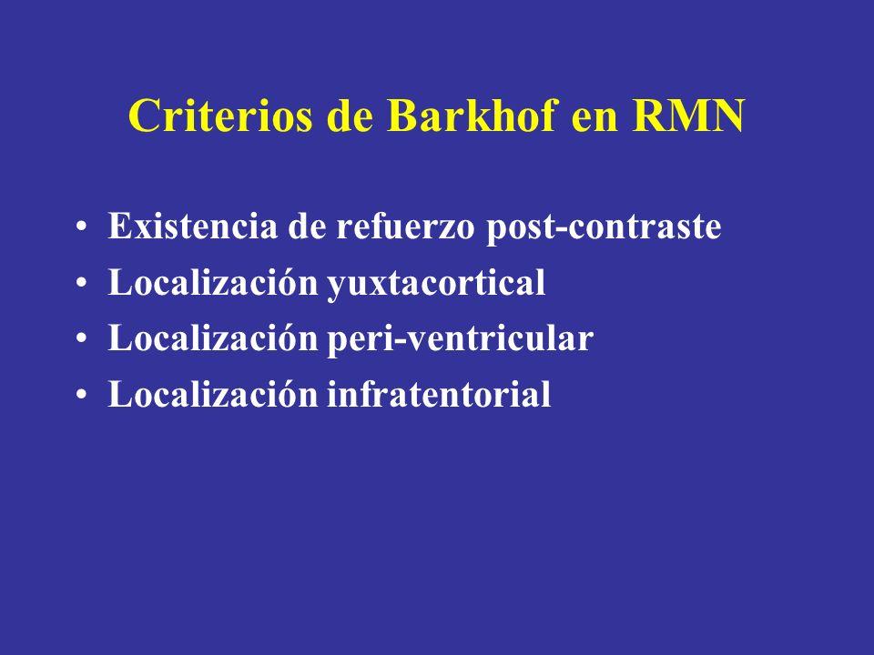 Criterios de Barkhof en RMN