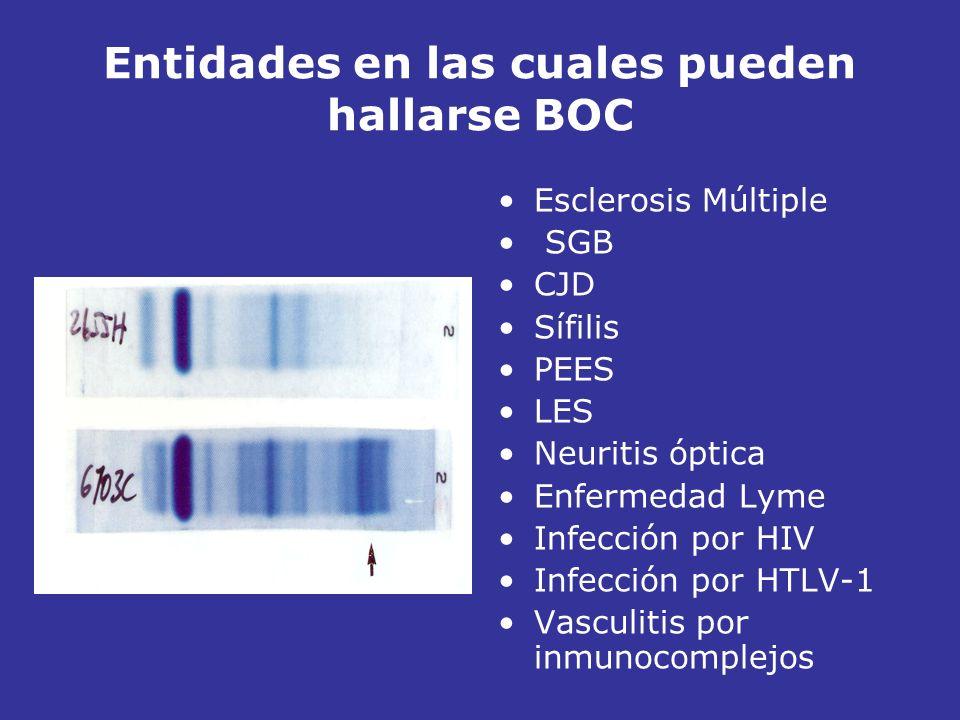 Entidades en las cuales pueden hallarse BOC