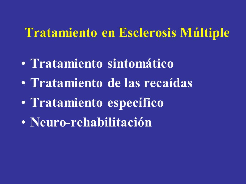 Tratamiento en Esclerosis Múltiple