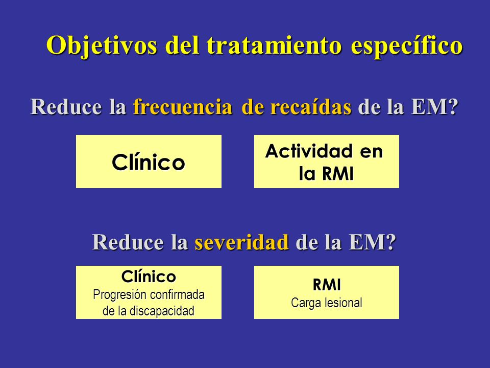 Objetivos del tratamiento específico