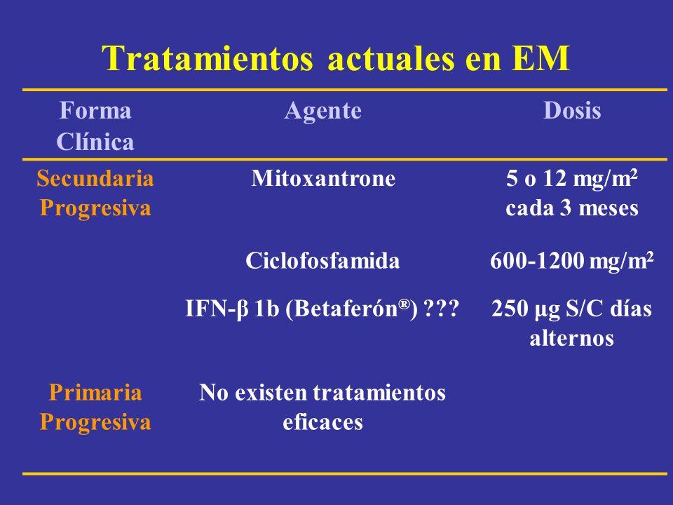 Tratamientos actuales en EM