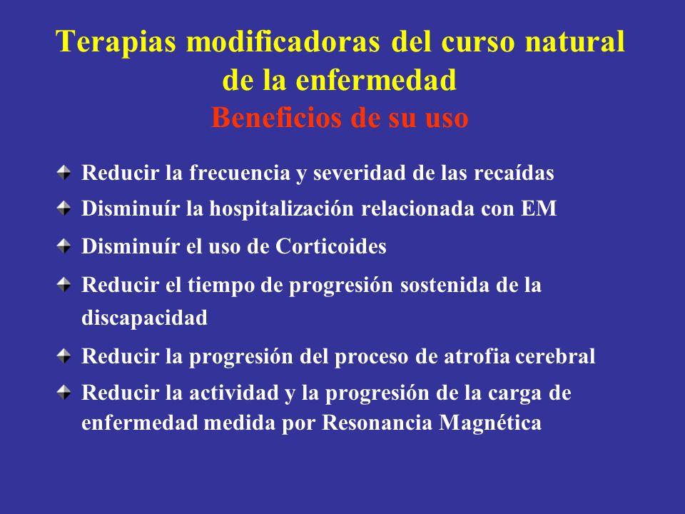 Terapias modificadoras del curso natural de la enfermedad Beneficios de su uso