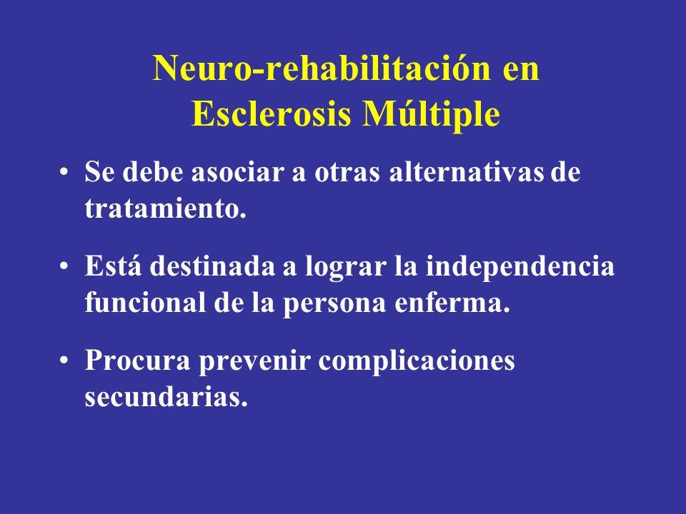 Neuro-rehabilitación en Esclerosis Múltiple