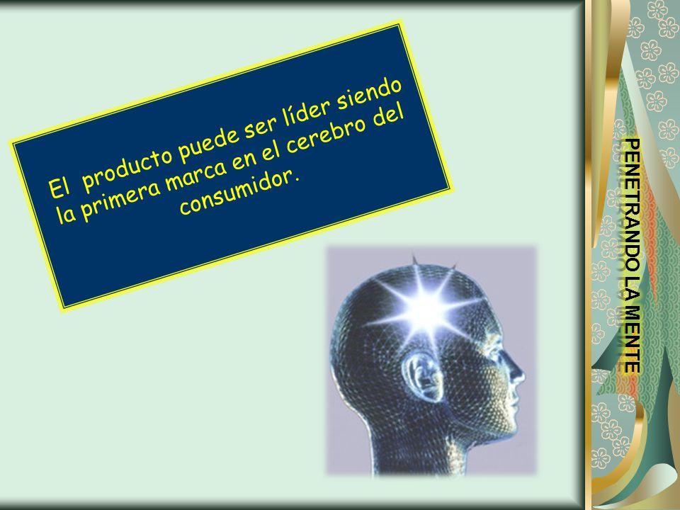 El producto puede ser líder siendo la primera marca en el cerebro del consumidor.