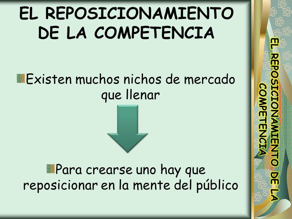 EL REPOSICIONAMIENTO DE LA COMPETENCIA