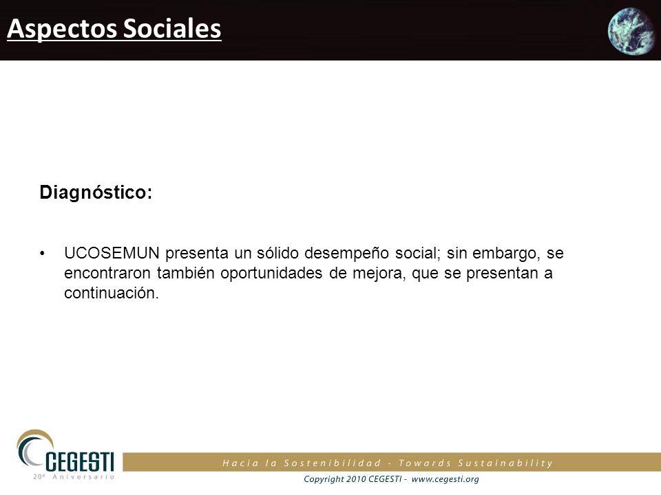 Aspectos Sociales Diagnóstico: