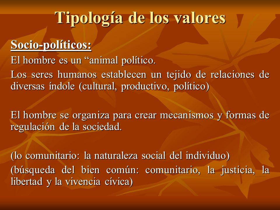 Tipología de los valores