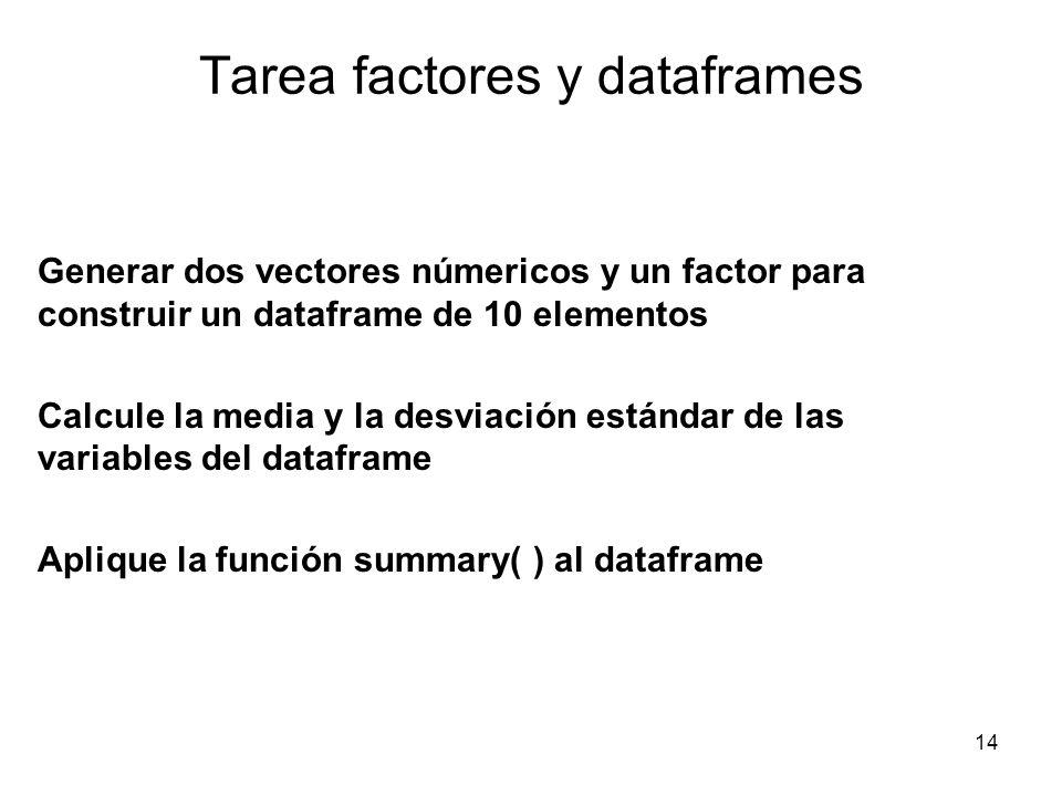 Tarea factores y dataframes