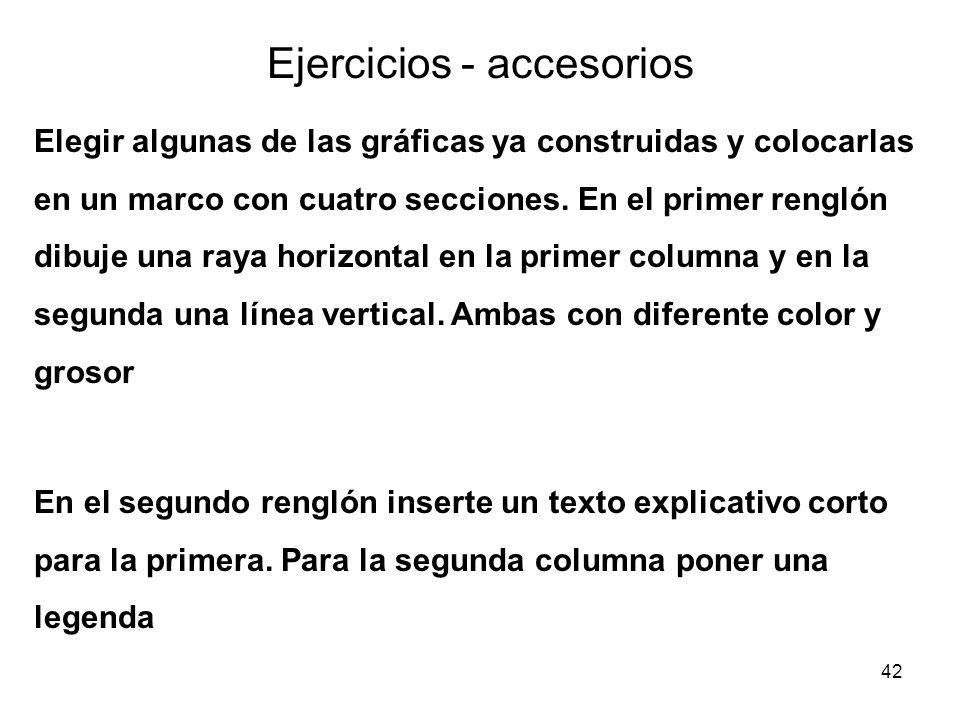 Ejercicios - accesorios
