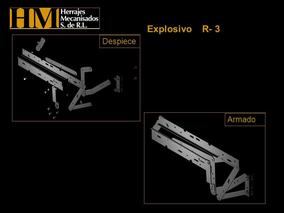 Explosivo R- 3 Despiece Armado