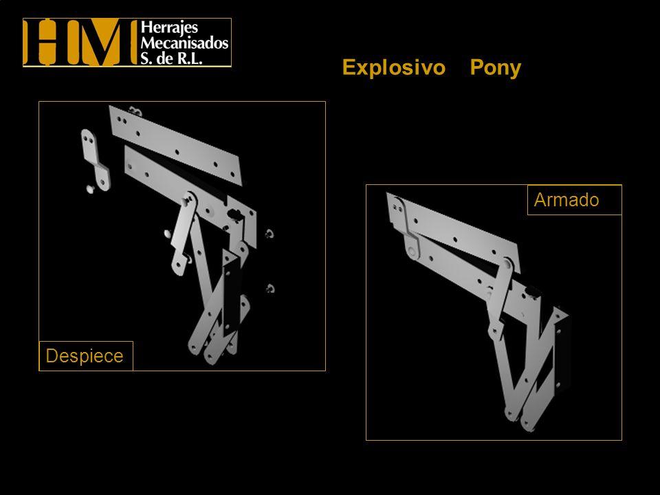 Explosivo Pony Armado Despiece