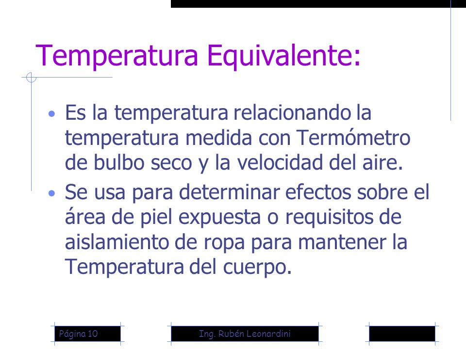 Temperatura Equivalente: