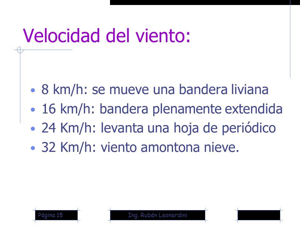 Velocidad del viento: 8 km/h: se mueve una bandera liviana