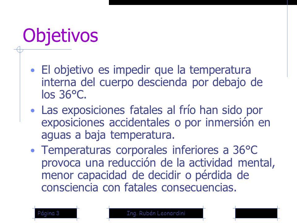 Objetivos El objetivo es impedir que la temperatura interna del cuerpo descienda por debajo de los 36°C.