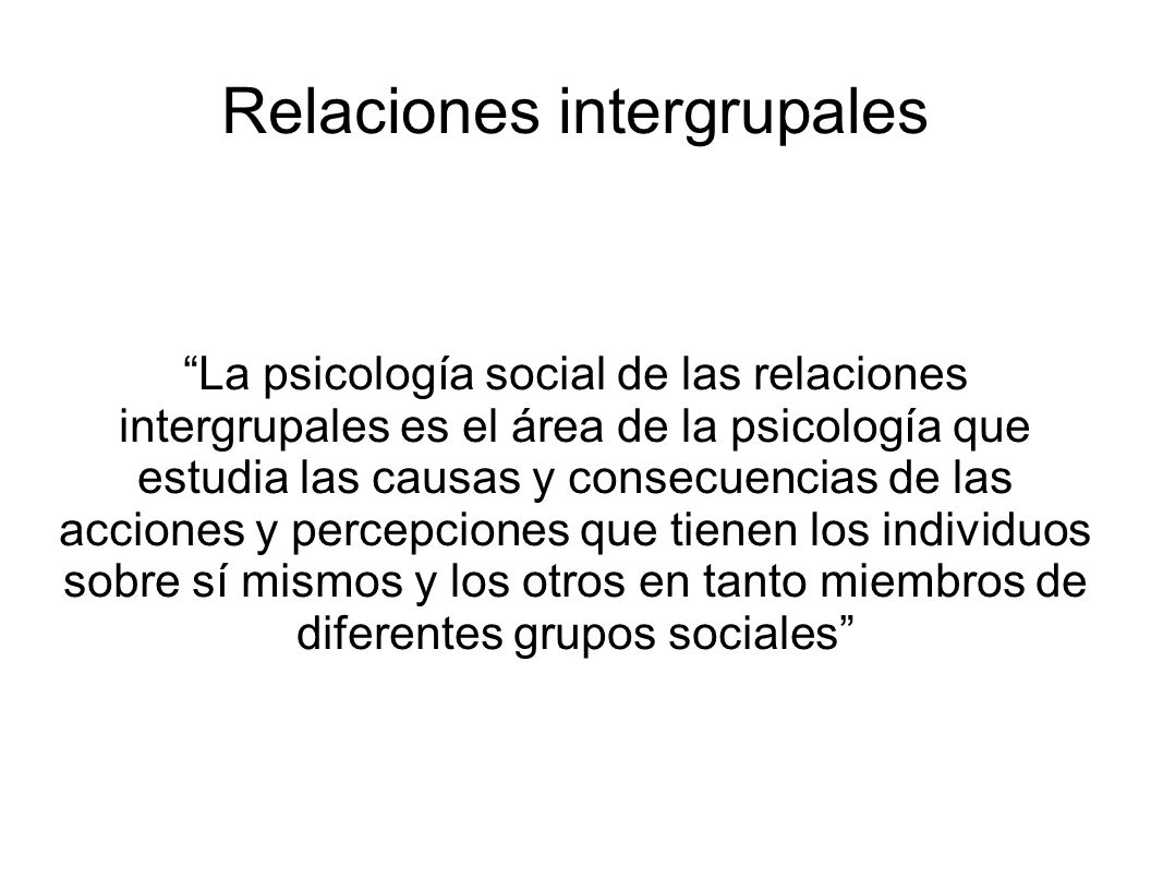 Relaciones intergrupales