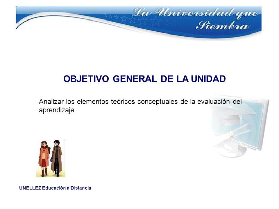 OBJETIVO GENERAL DE LA UNIDAD