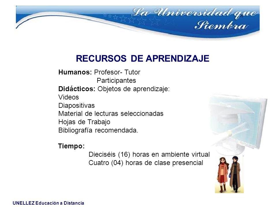 RECURSOS DE APRENDIZAJE