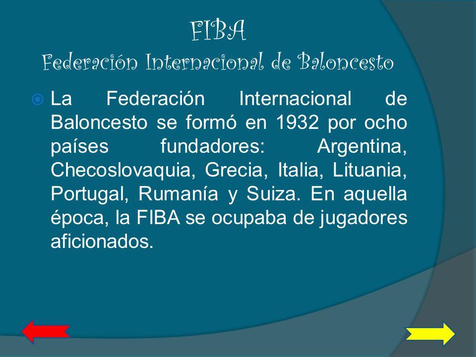 FIBA Federación Internacional de Baloncesto