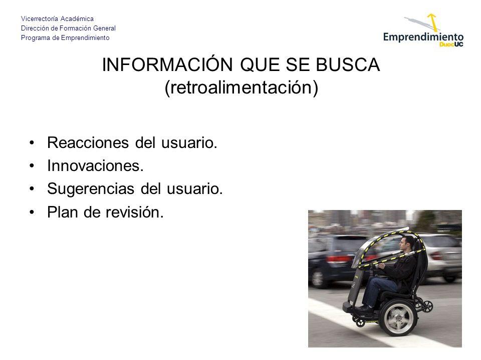 INFORMACIÓN QUE SE BUSCA (retroalimentación)