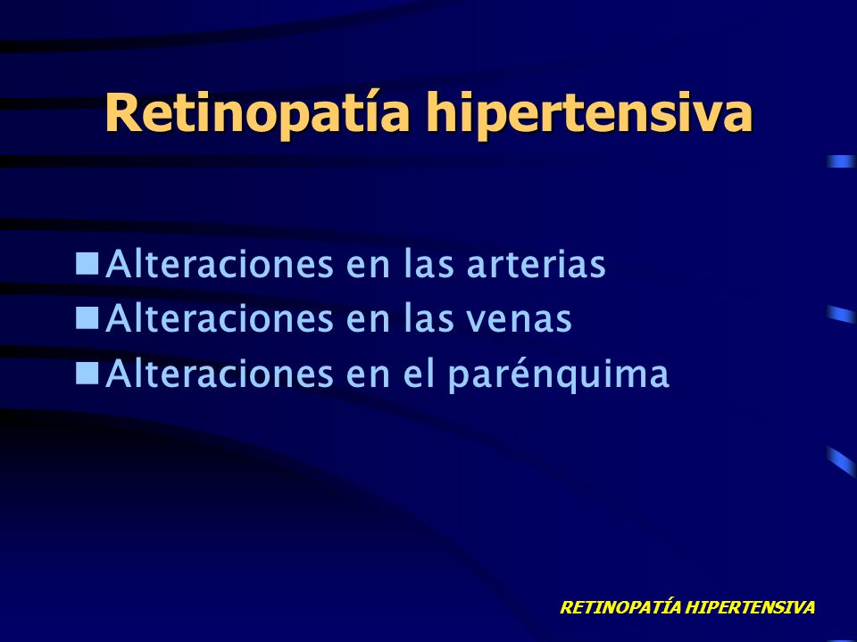Retinopatía hipertensiva