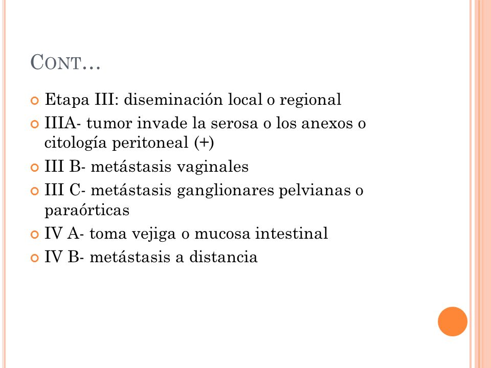 Cont… Etapa III: diseminación local o regional