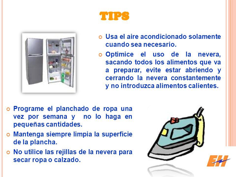 TIPS Usa el aire acondicionado solamente cuando sea necesario.
