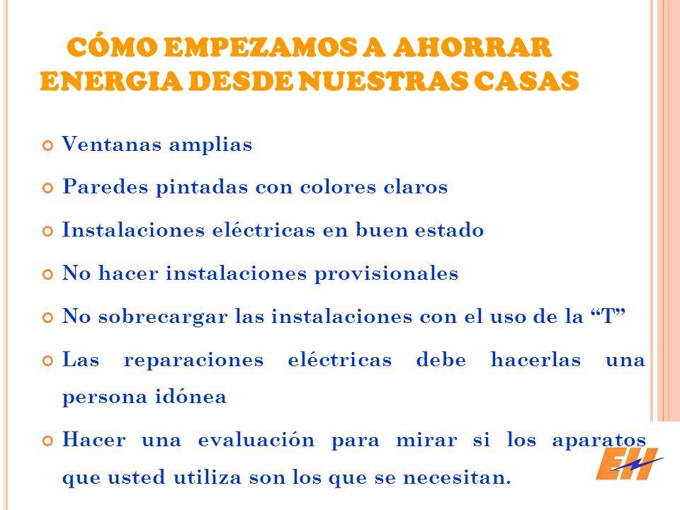 CÓMO EMPEZAMOS A AHORRAR ENERGIA DESDE NUESTRAS CASAS