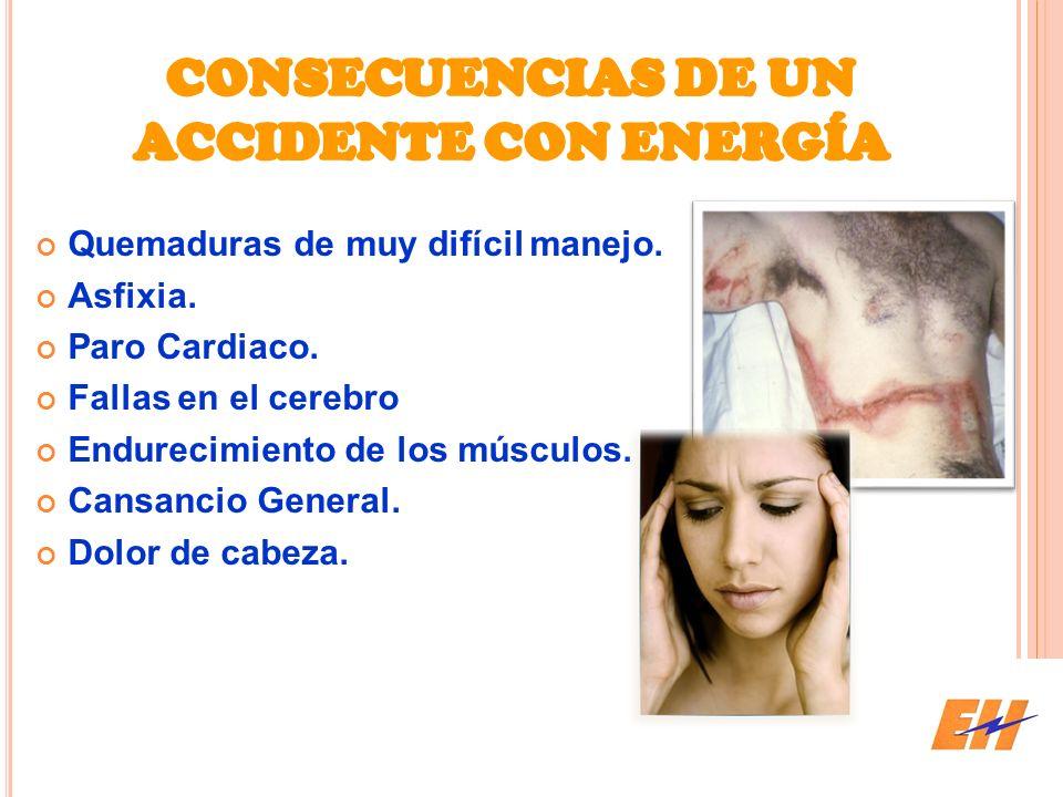 CONSECUENCIAS DE UN ACCIDENTE CON ENERGÍA