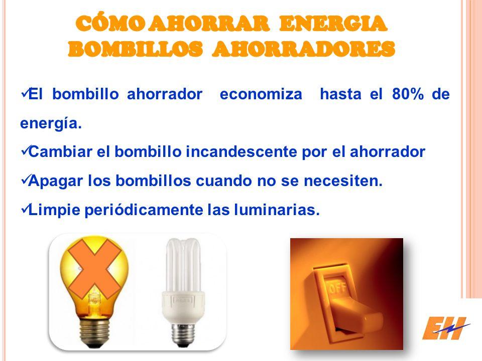 CÓMO AHORRAR ENERGIA BOMBILLOS AHORRADORES