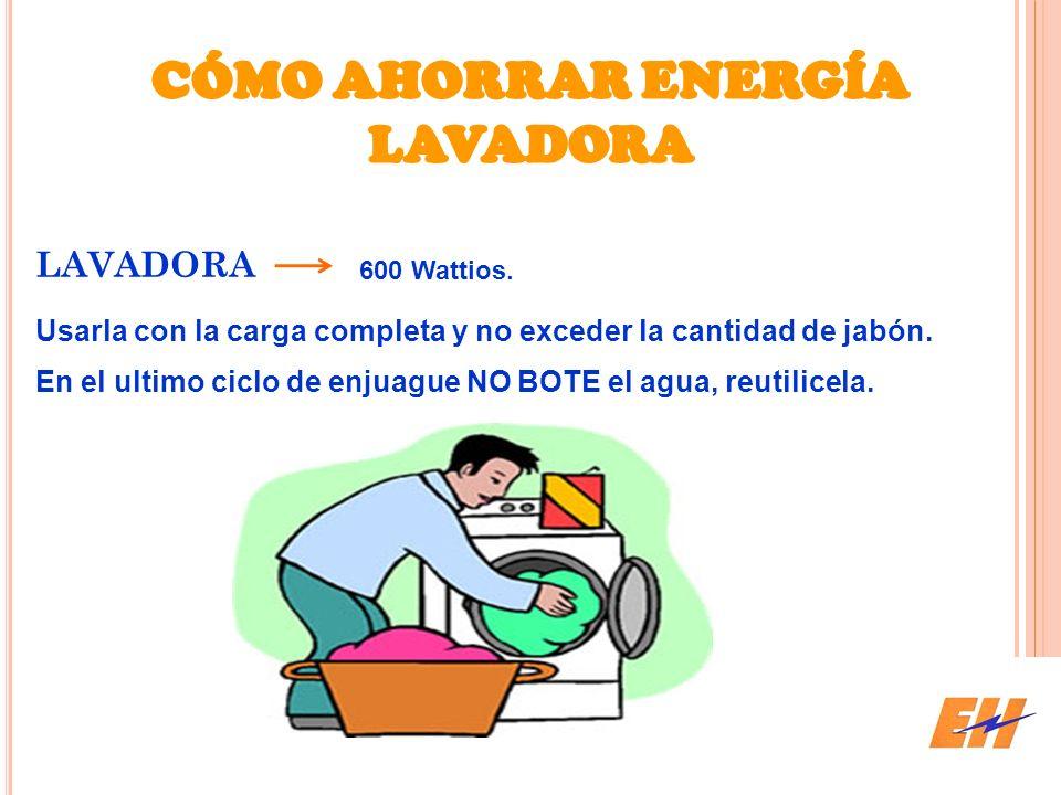 CÓMO AHORRAR ENERGÍA LAVADORA
