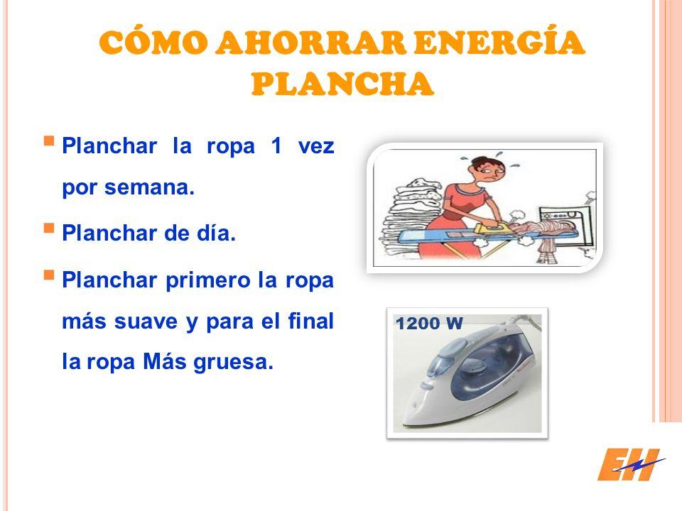 CÓMO AHORRAR ENERGÍA PLANCHA