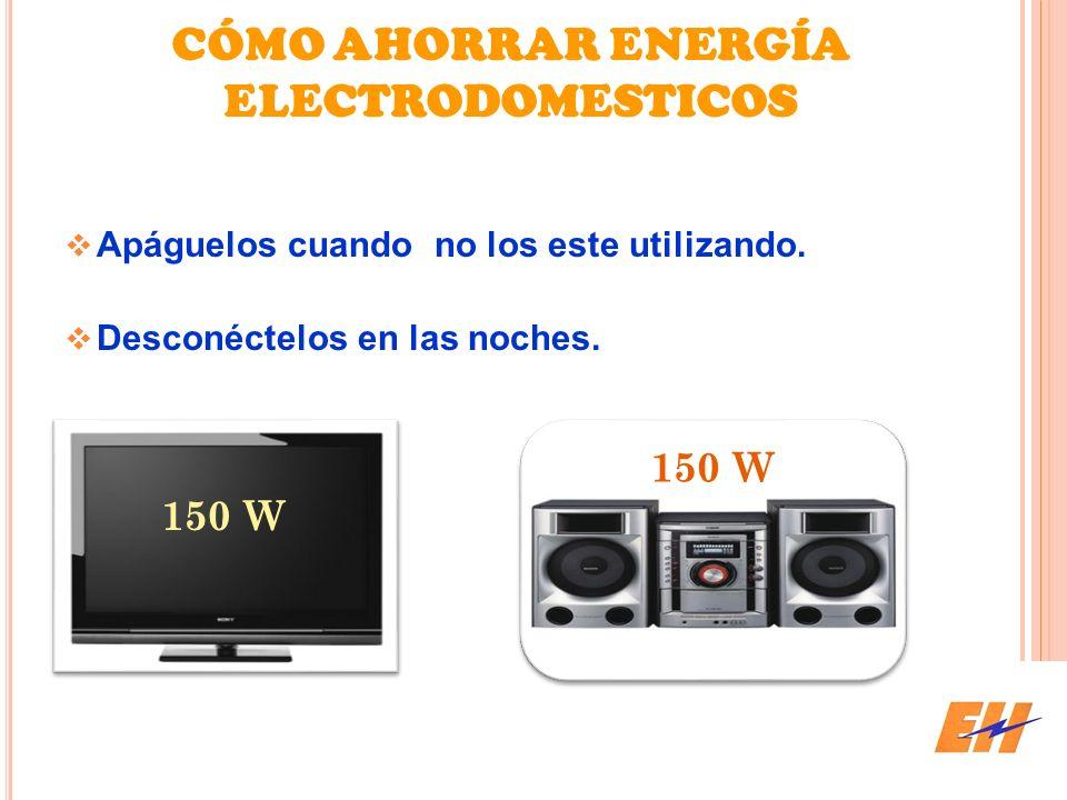 CÓMO AHORRAR ENERGÍA ELECTRODOMESTICOS