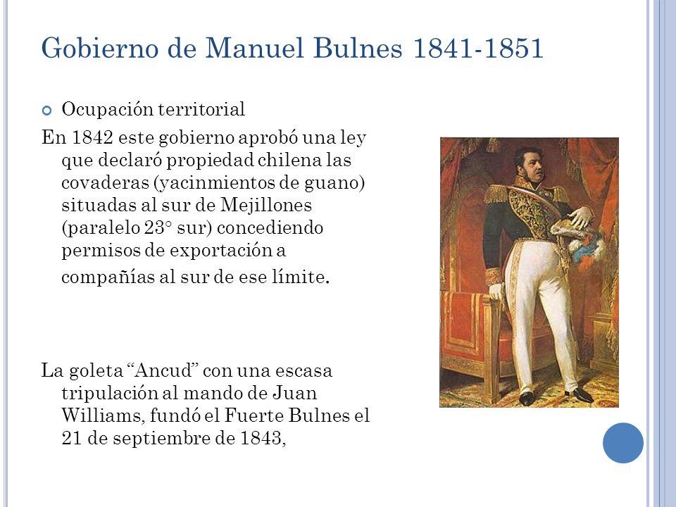 Gobierno de Manuel Bulnes 1841-1851