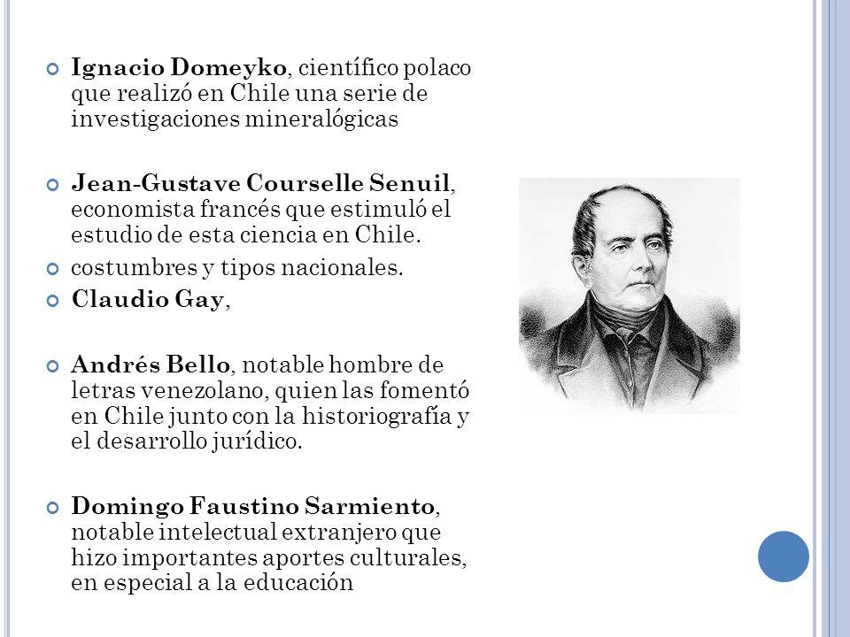 Ignacio Domeyko, científico polaco que realizó en Chile una serie de investigaciones mineralógicas