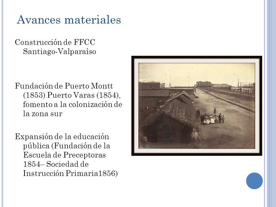 Avances materiales Construcción de FFCC Santiago-Valparaíso