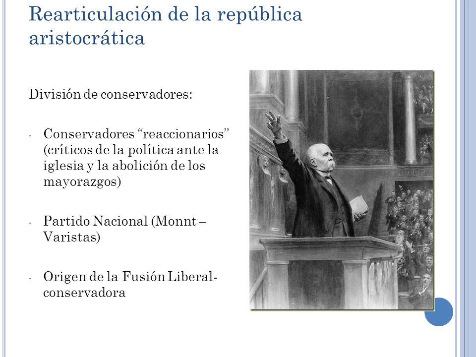 Rearticulación de la república aristocrática