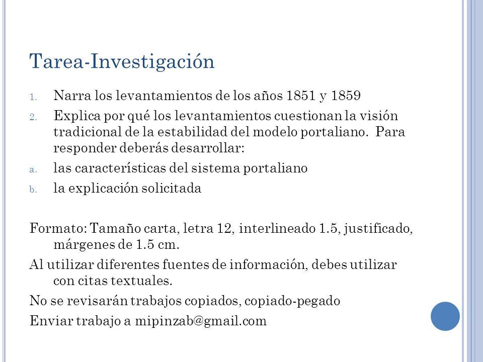 Tarea-Investigación Narra los levantamientos de los años 1851 y 1859