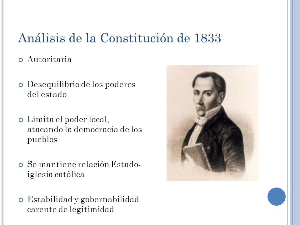 Análisis de la Constitución de 1833