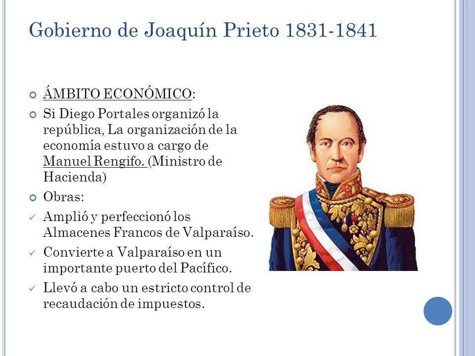 Gobierno de Joaquín Prieto 1831-1841
