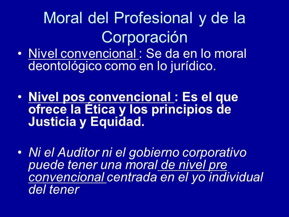 Moral del Profesional y de la Corporación