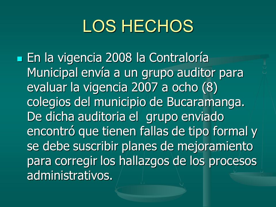 LOS HECHOS