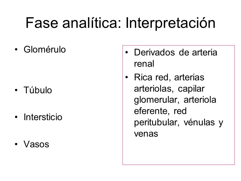 Fase analítica: Interpretación