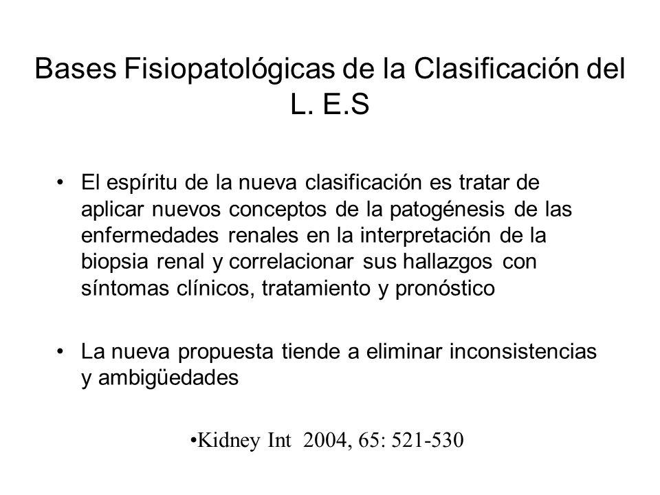Bases Fisiopatológicas de la Clasificación del L. E.S