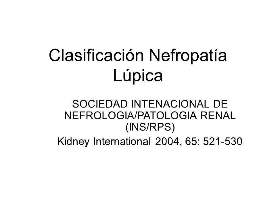 Clasificación Nefropatía Lúpica