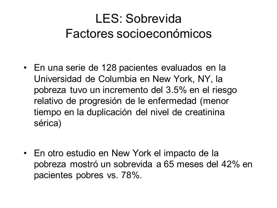 LES: Sobrevida Factores socioeconómicos