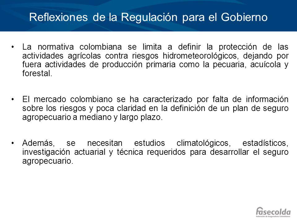 Reflexiones de la Regulación para el Gobierno