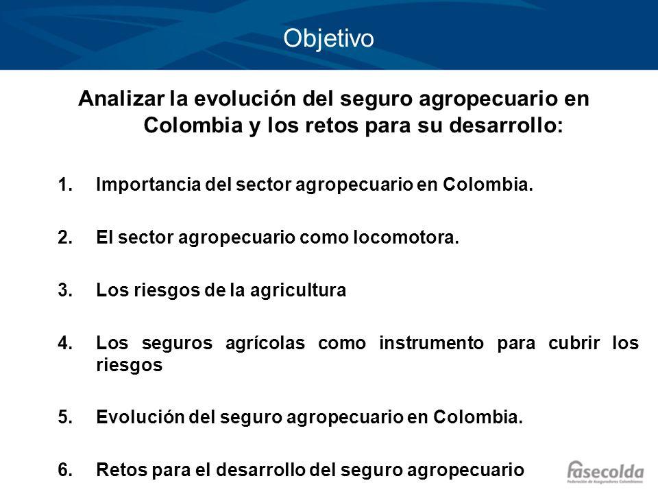 Objetivo Importancia del sector agropecuario en Colombia.